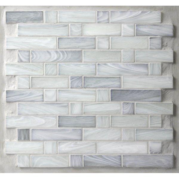 Avenue Mosaic Homespun 12 X 12 Glass Mosaic Tile In Gray