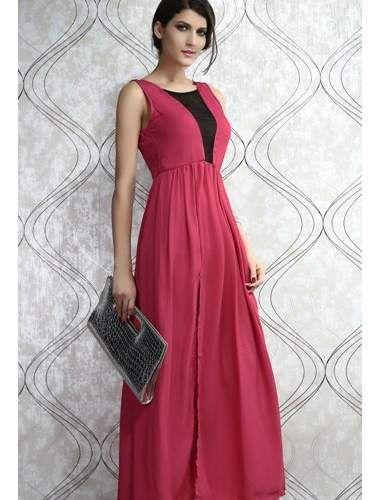 Pull the Plunge Fuchsia Maxi Dress | buy sexy Club Dresses , Club wear online in india | StringsAndMe