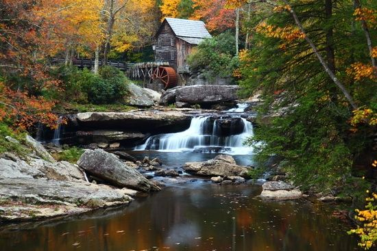One of the most scenic areas in West Virginia for fall foliage scenery is Babcock State Park.