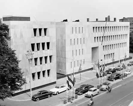 1957-59 Marcel Breuer US Embassy, The Hague, Netherlands.