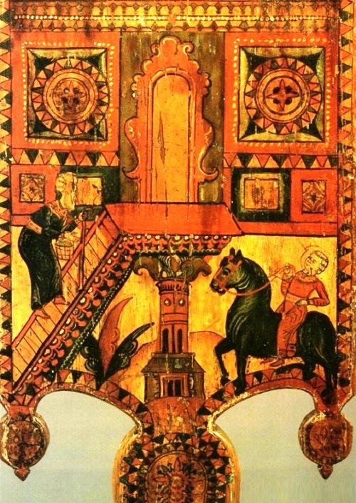 Traditional Russian folk art - Boretsky painting