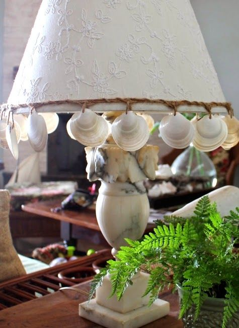 Shell Enhanced Lampshade: http://www.completely-coastal.com/2014/08/easy-seashell-decor-ideas-for-things-you-already-have.html