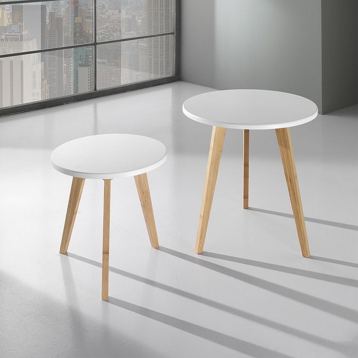 Contemporary 2 Piece Side Table Set Vinst By Tomasucci