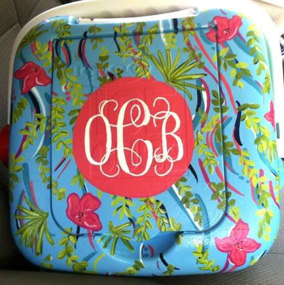 Custom Painted Cooler - Medium/Large Size (48 qt.). via Etsy.