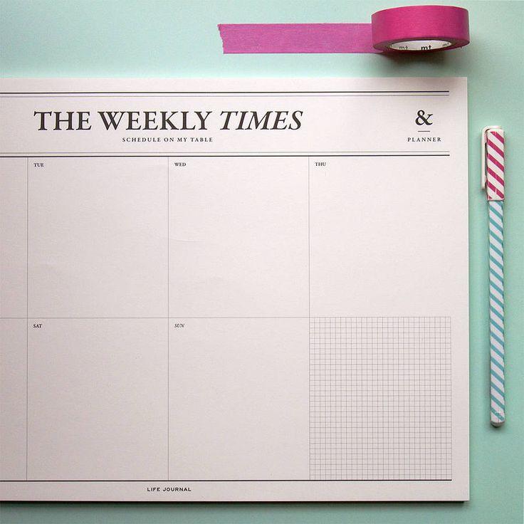 'Weekly Times' Desk Planner