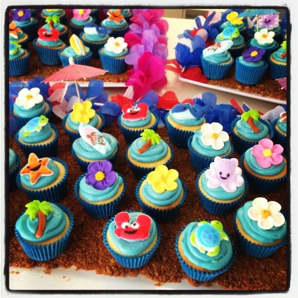 Under the sea themes Cupcakes