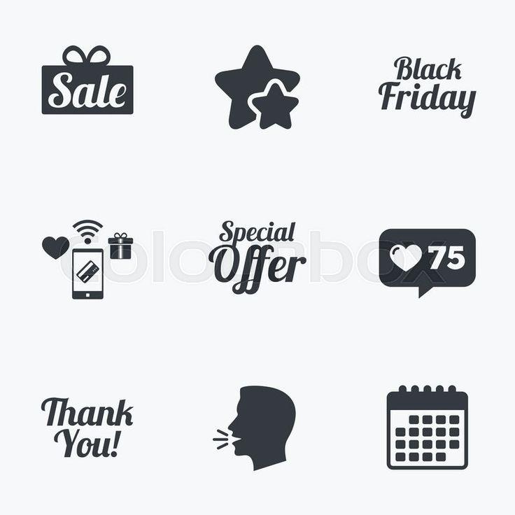 Black Friday icons design.