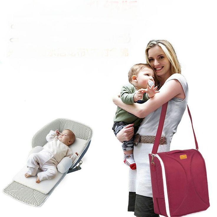 Детские Кроватки Мать младенца сумки многофункциональный детская кровать портативный складной путешествия кровать детские подгузники кровати 100% хлопок 43.5*83*83 см 2016 купить на AliExpress