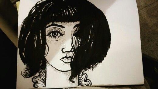 Tinta sobre papel.
