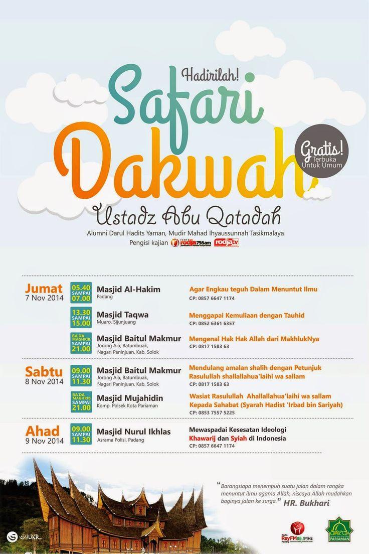 Safari Dakwah Ust. Abu Qotadah di Sumbar | Kajian Sunnah
