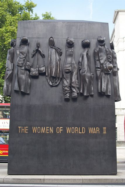 Women of World War II Memorial, Whitehall, London, UK
