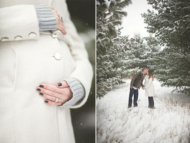 winter white maternity