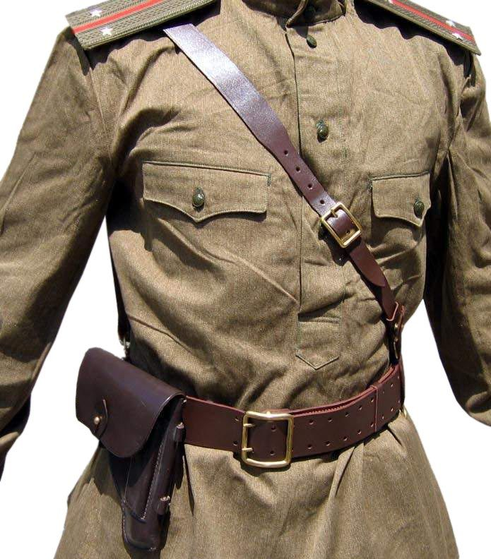 Soviet Army military uniform - GIMNASTERKA + BELT with HOLSTER