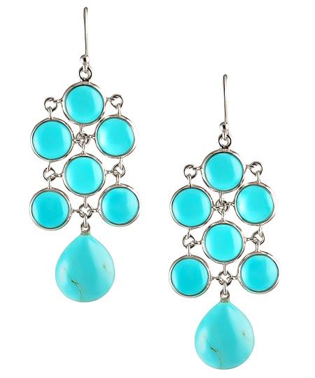 Turquoise Chandelier Earrings by Elizabeth Showers