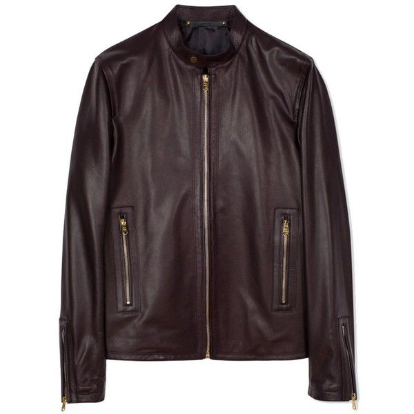 Paul Smith Men's Burgundy Leather Outerwear Jacket ($2,640) ❤ liked on Polyvore featuring men's fashion, men's clothing, men's outerwear, men's jackets, red, mens burgundy leather jacket, mens burgundy jacket, mens red jacket and mens jackets