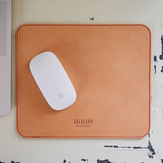 Organic leather mousepad by GoldzahnSupply on Etsy, €29.00