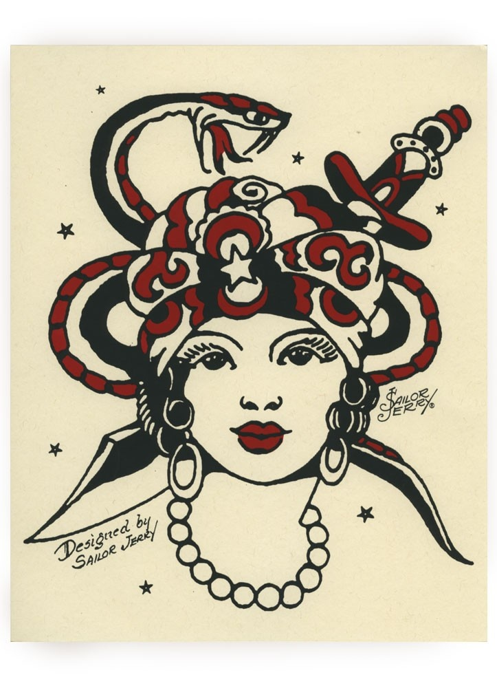 72 best tattoos sun moon images on pinterest for Sailor jerry gypsy tattoo