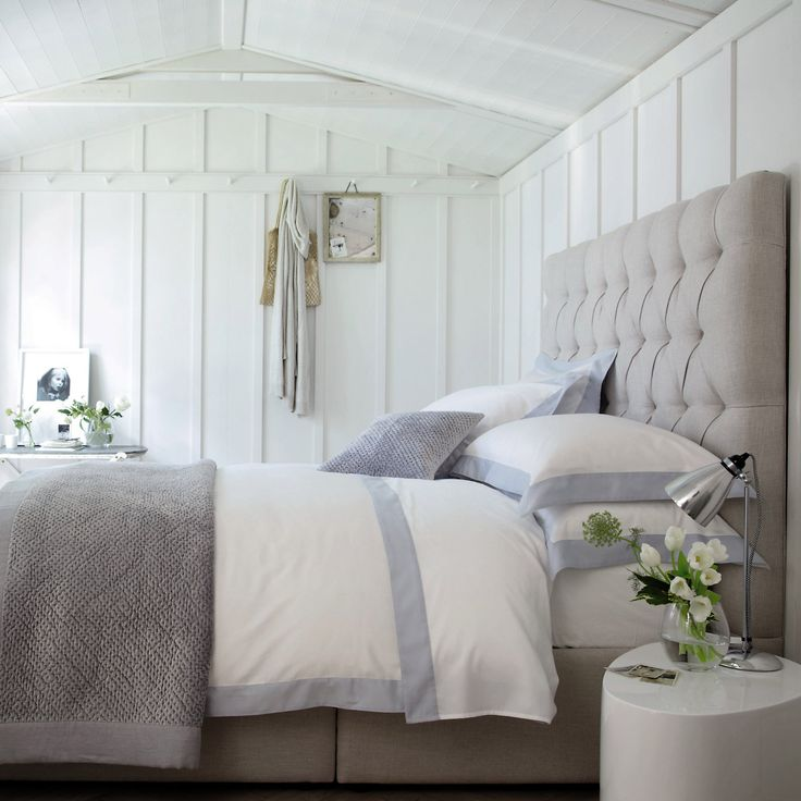5 Bedroom Ideas For Autumn From The White Company: Genoa Bed Linen Collection From The White Company