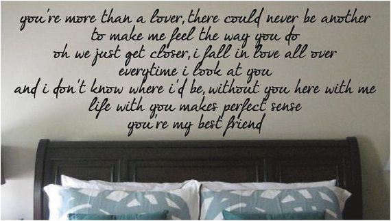 How perfect for your room, H! <3, Nic You're My Best Friend  Tim McGraw   Any Room by SweetumsSignatures, $16.00