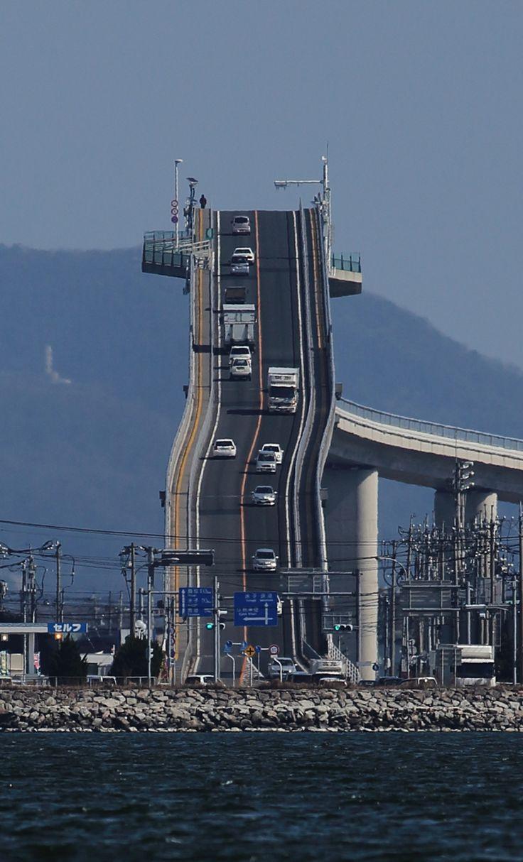 Eshima Longbridge 江島大橋 ( Eshima Ohashi ) Sakai minato Tottori 鳥取県境港市