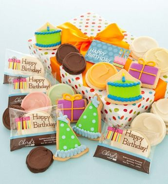 Happy Birthday Fancy Cookie Gift | Birthday Gift Ideas | Cheryls.com | What a delightful and delicious way to send birthday greetings!