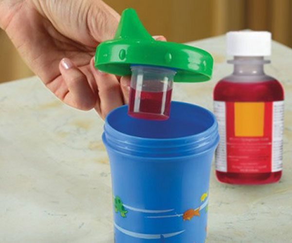 Getting kids to take their medicine is no small task, especially when you're faced with a balky, feverish toddler. Enter - The Medicine Dispensing Sippy Cup. It works on its own as an everyday sippy cup for young children. The cup's creators even recommend that parents use it as a child's everyday drinking cup in order to have make them comfortable with the cup. When your child does require some liquid medicine, a separate hidden cup can be clipped on inside the container. The medicine and…