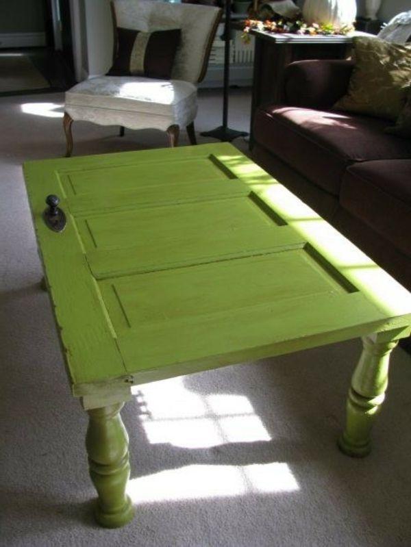 handgemacht Möbel und Dekorationen aus alten Türen tisch idee
