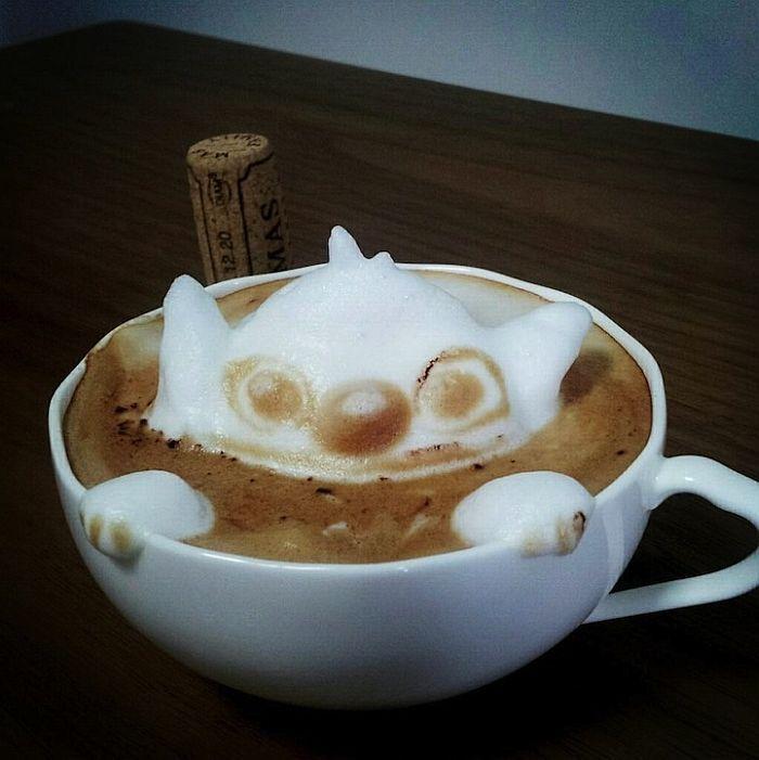 3D латте-арт от Казуки Ямамото (Kazuki Yamamoto), Япония