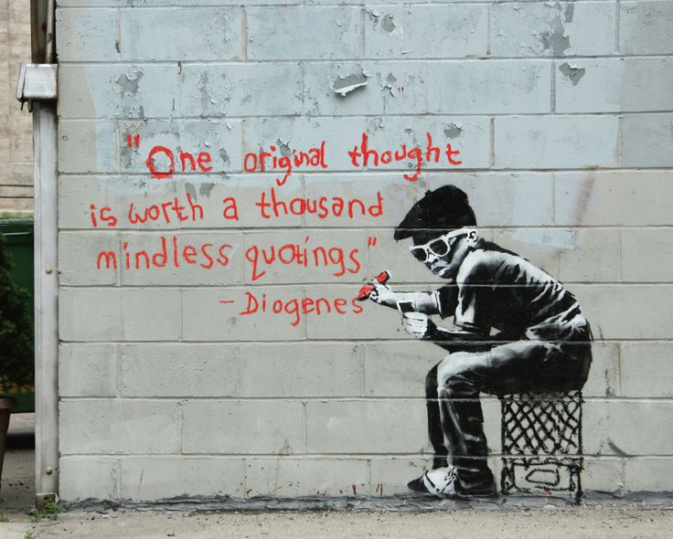 """Check out some of the street artwork by Banksy. This mysterious artist was nominated last year for an Academy Award for his documentary, """"Exit Through the Gift Shop."""""""