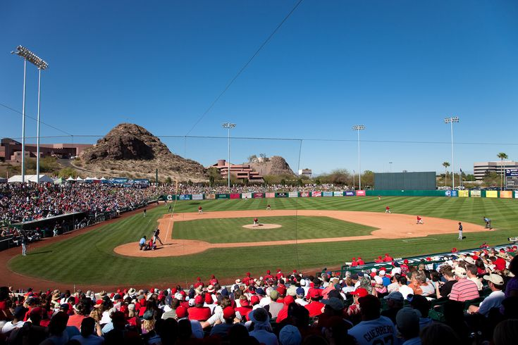 On Wednesdays during baseball season at The World on Wheels, we review baseball stadiums focusing on the fun factor and wheelchair access. From large to small, we try to cover them all (yes, we still have a way to go). This week's Field of Dreams...Spring Training ends and the Angels break camp from Tempe Diablo Stadium in Arizona.