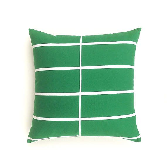 Green Cushion Cover. Scandinavian Minimalist Cushion.