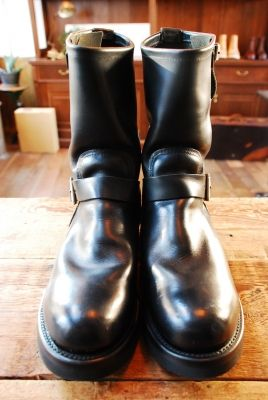 REDWING 2268 Vibram2021 BLACK + Rubber heel | BRASS BLOG