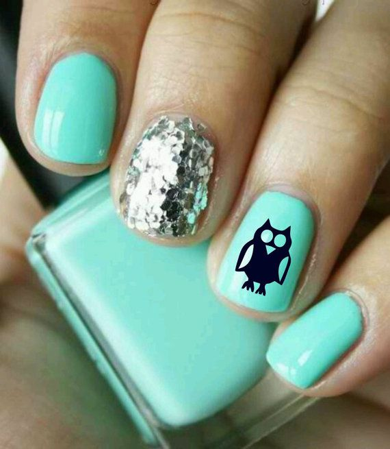 Nail Art Owls Decal