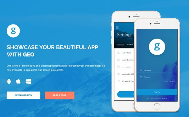 FREE App Landing Page Template (HTML/CSS3)