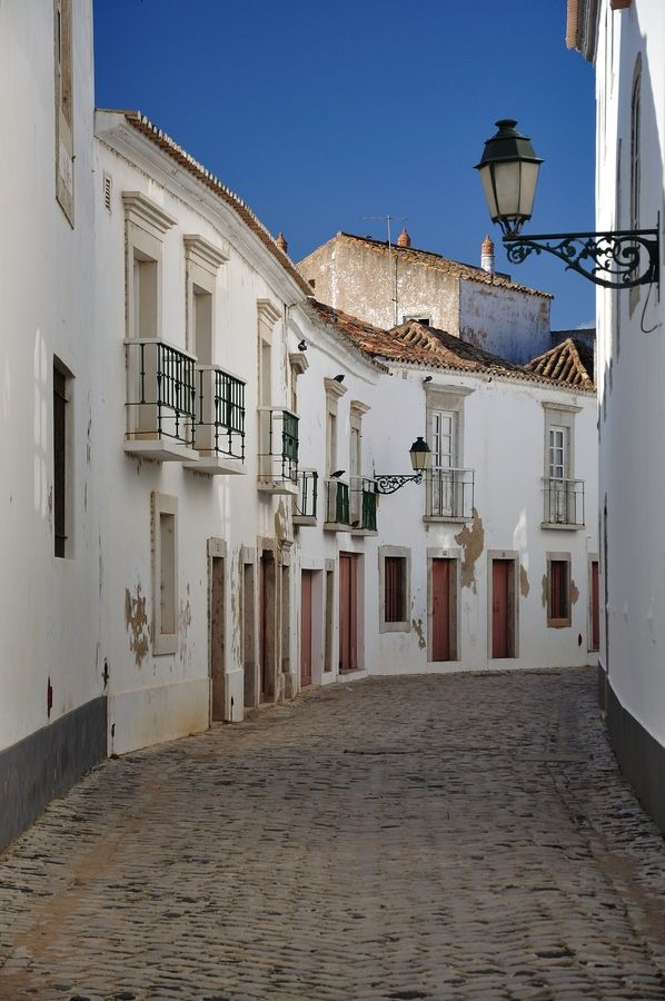 Streets of old Faro Portugal