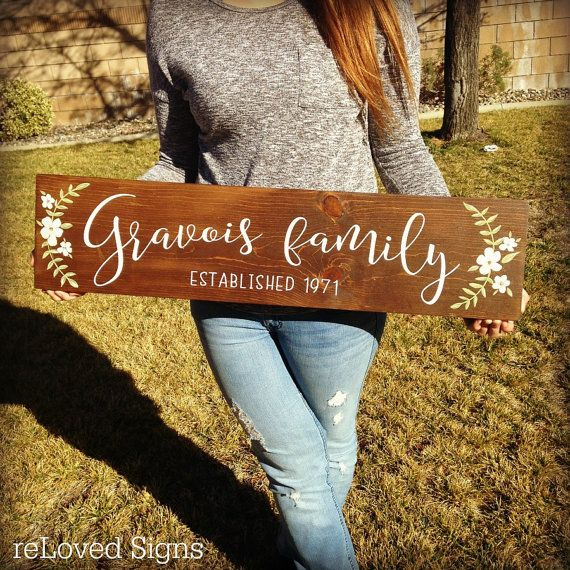 Wedding Established Sign, Wedding Gift, Last Name Established Sign