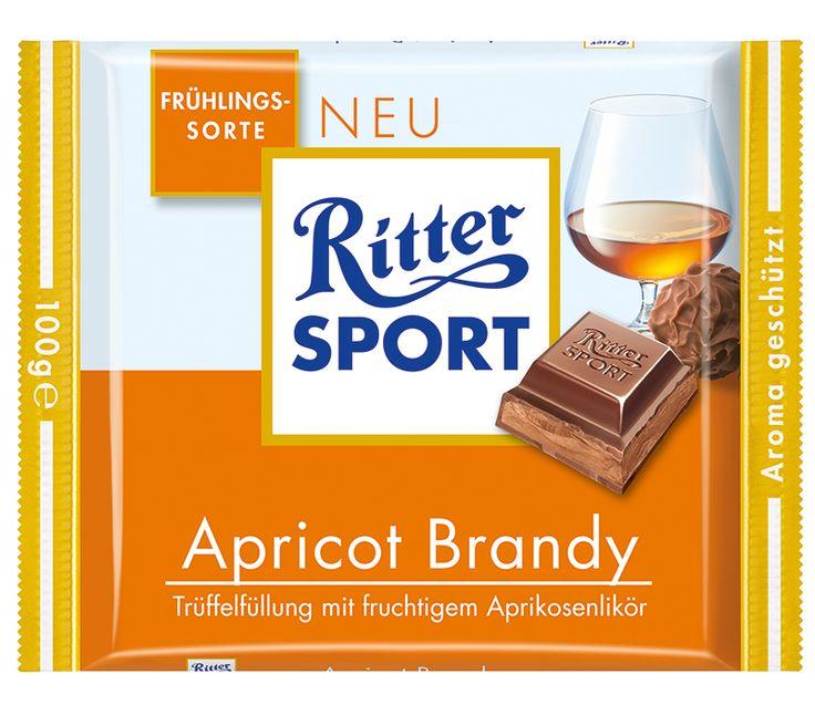 RITTER SPORT Frühlingssorte Apricot Brandy – Trüffelfüllung mit fruchtigem Aprikosenlikör (2009)