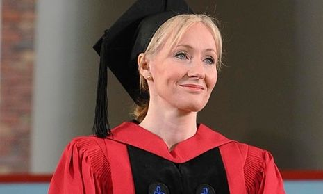 Rowling at her Harvard University commencement address in 2008.