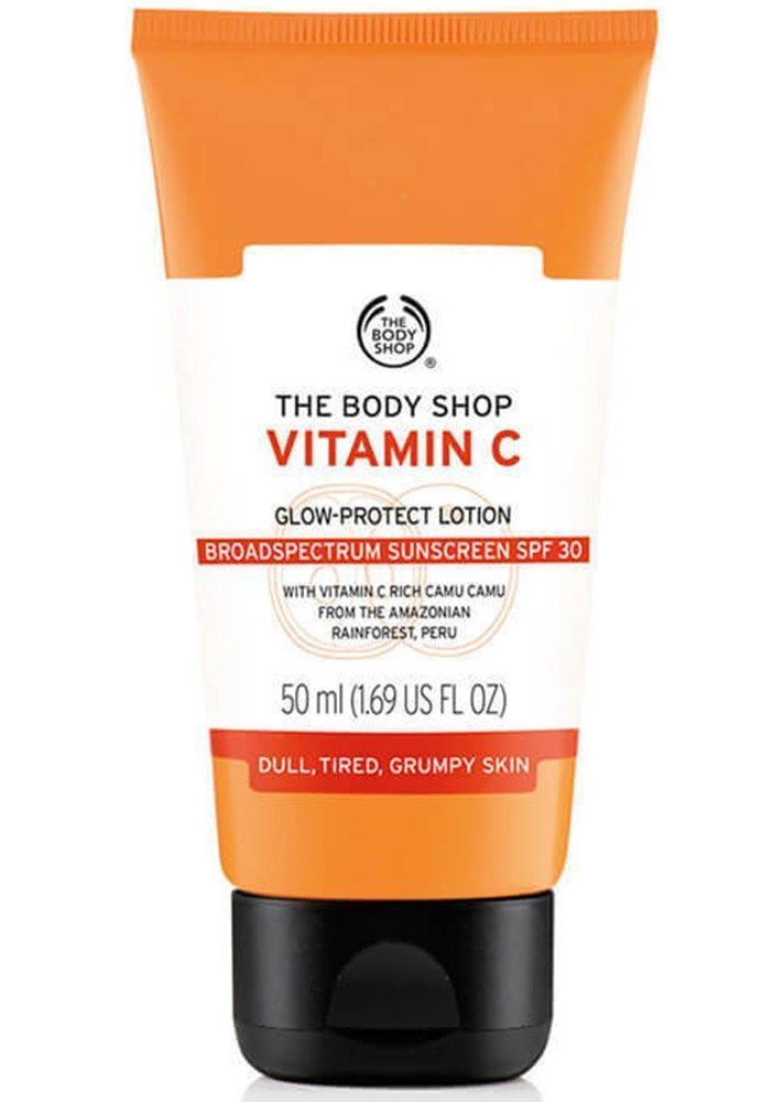 Best Drugstore Sunscreens For Dry Skin The Body Shop Vitamin C Glow Protect Lotion Spf 30 The Body Shop Drug Store Face Moisturizer Best Drugstore Sunscreen
