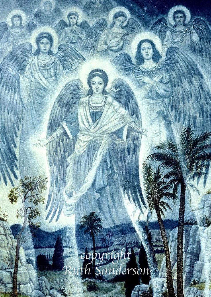 Ruth Sanderson Hála Istennek, hogy vannak Szent Arkangyalok mint Szent Mihály Arkangyal, Szent Rafael Arkangyal, és Szent Gábriel Arkangyal,