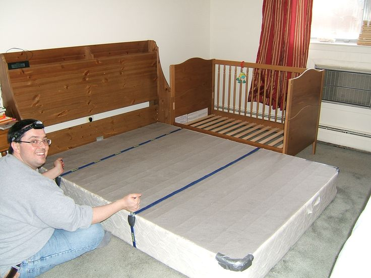 crib side bed | first take one side off the crib our crib can also be a toddler bed so ...