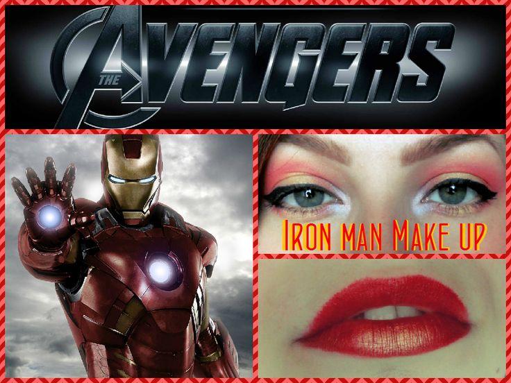Iron man inspired makeup #beauty #makeup #marvel #avengers #ironman #eyes #lips