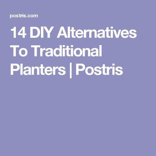 14 DIY Alternatives To Traditional Planters   Postris