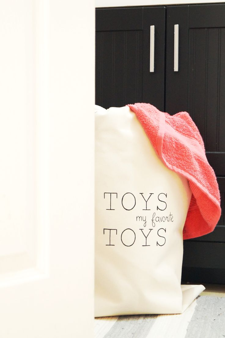 Large toy storage bag. Cotton canvas sturdy laundry hamper. Kids room. Nursery decor. Living room. Home decor. Etsy handmade. Modern Scandinavian interior design