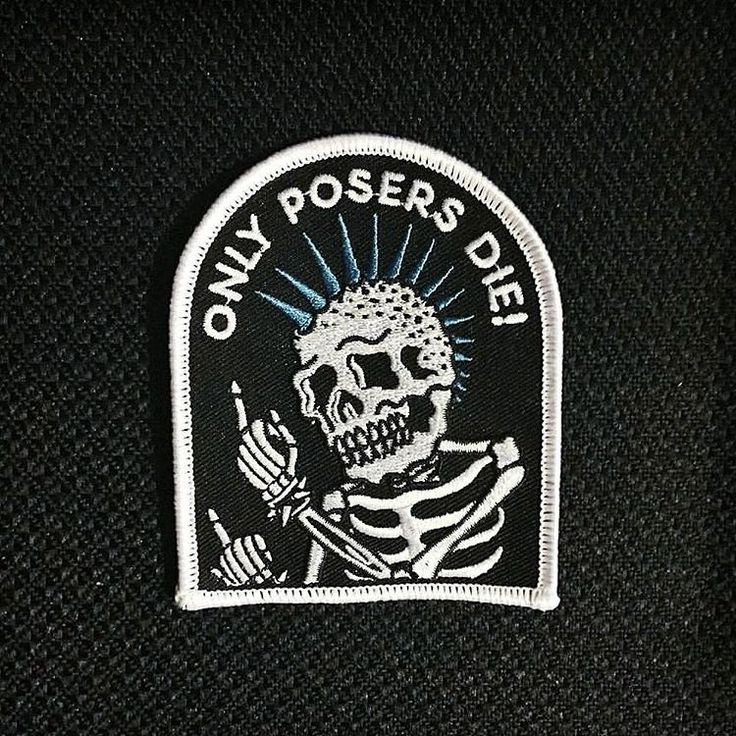 Only Posers Die Patch - $6.00  http://meanfolk.com/products/poser-patch
