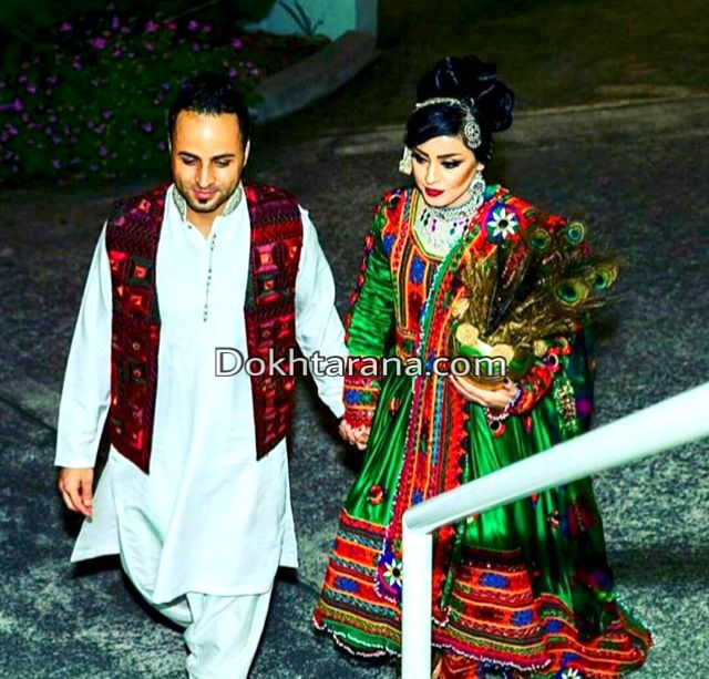 Afghan Wedding Gowns: #afghan #wedding #couple #style #dress