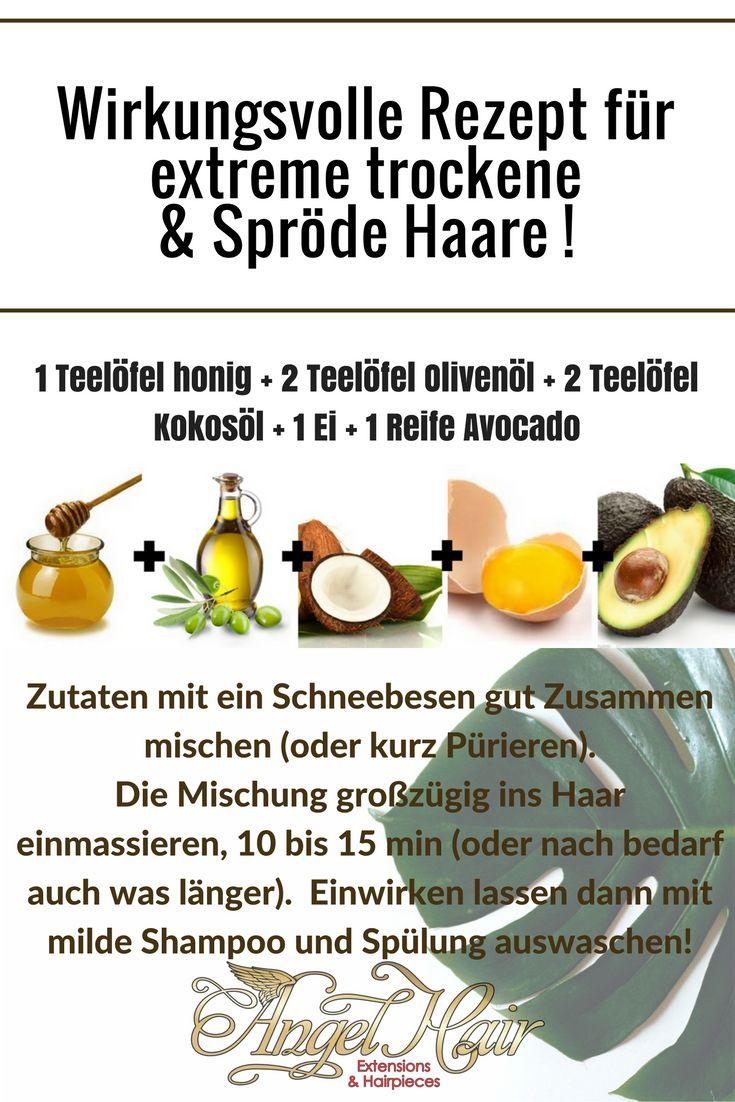 Rezept für extreme trockene & Spröde Haare(Beauty Tips Hairstyles)