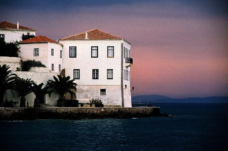 Beautiful architecture of Spetses island