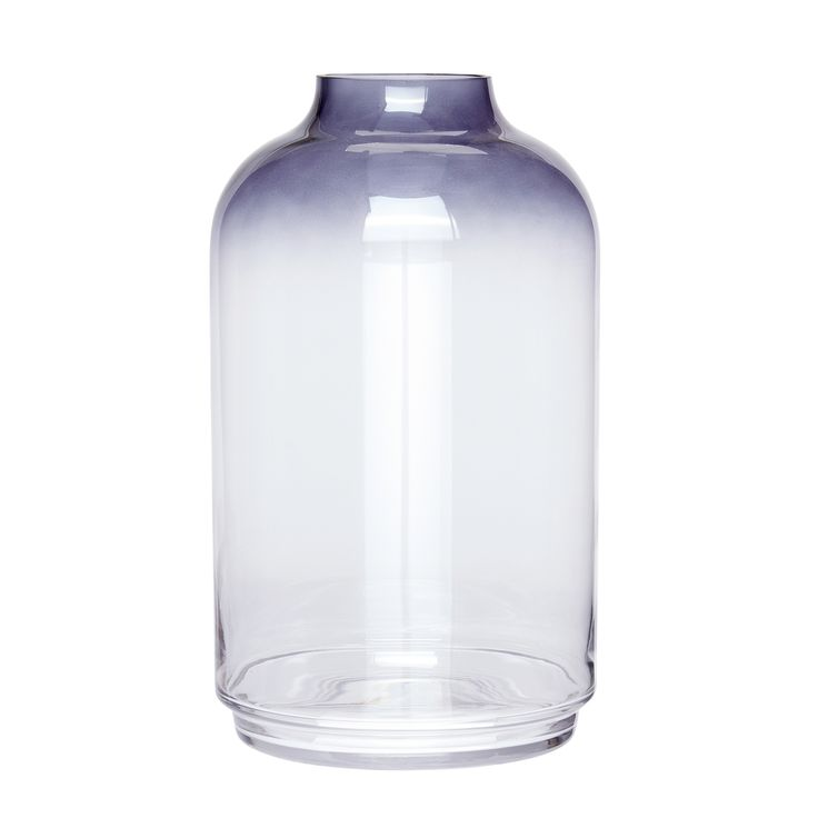 Large blue and clear glass vase. Product number: 660304 - Designed by Hübsch