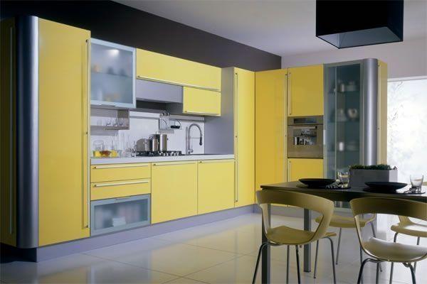 Küchenzeile modern milchglas leuchtende Fronten eingebaute-geräte